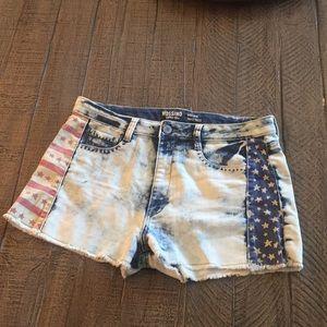 🇺🇸 Super cute American flag high rise shorts